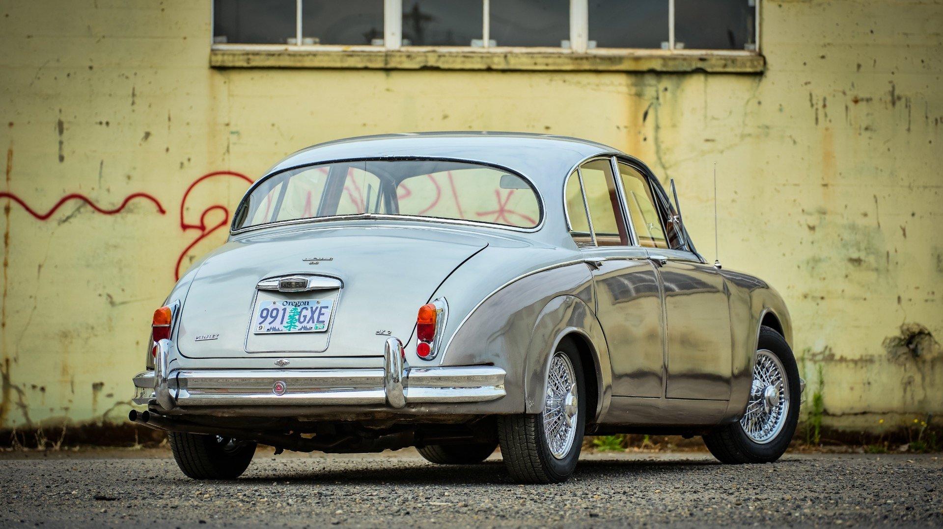1964 Jaguar Mk II 3.8 Liter = LHD Manual Correct Grey $14k For Sale (picture 2 of 6)