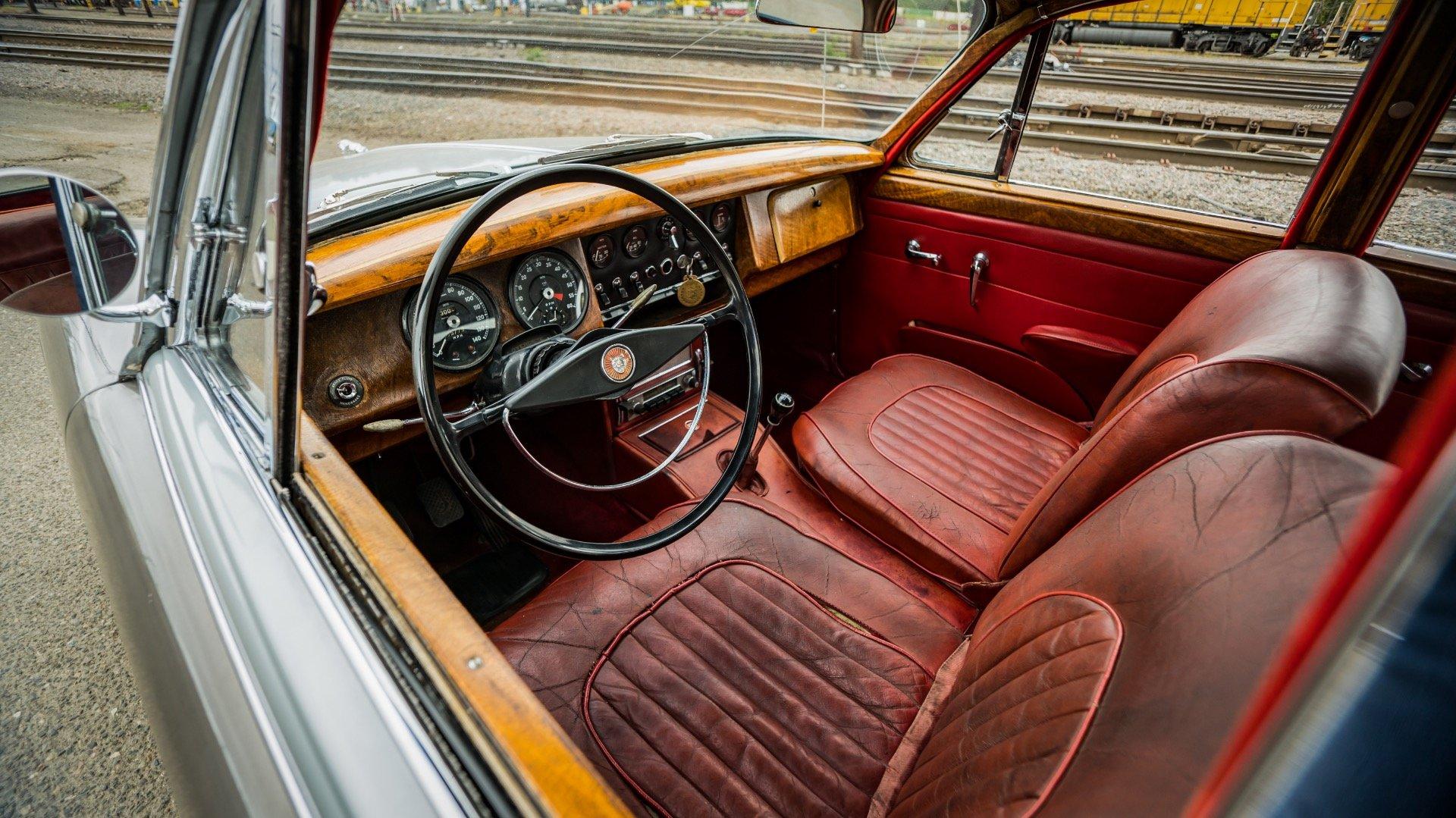 1964 Jaguar Mk II 3.8 Liter = LHD Manual Correct Grey $14k For Sale (picture 3 of 6)