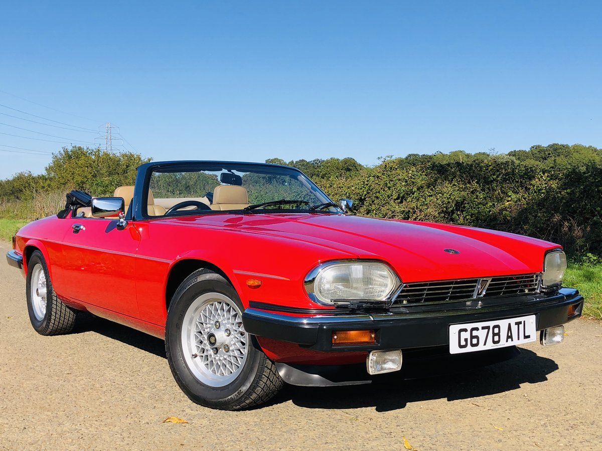 1989 Jaguar XJS 5.3L V12 Convertible 18000 miles only. For Sale (picture 2 of 6)