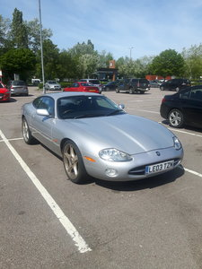 2003 Jaguar XK8  silver  excellent condition
