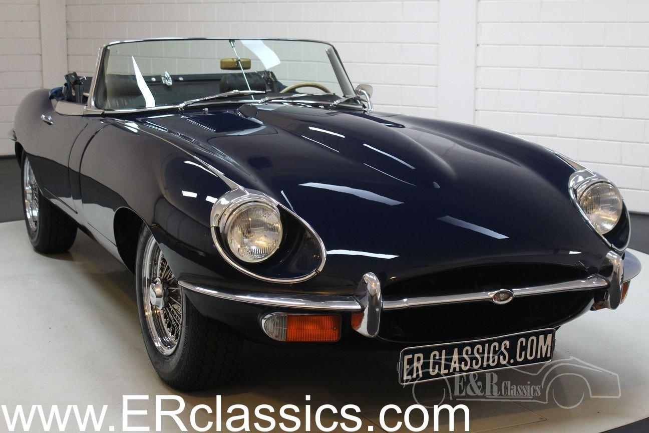 Jaguar E-type Series 2 Cabriolet 1970 Dark blue For Sale (picture 1 of 6)