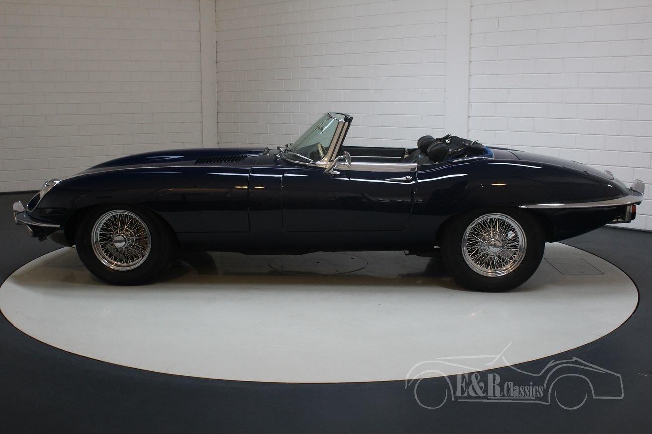 Jaguar E-type Series 2 Cabriolet 1970 Dark blue For Sale (picture 5 of 6)
