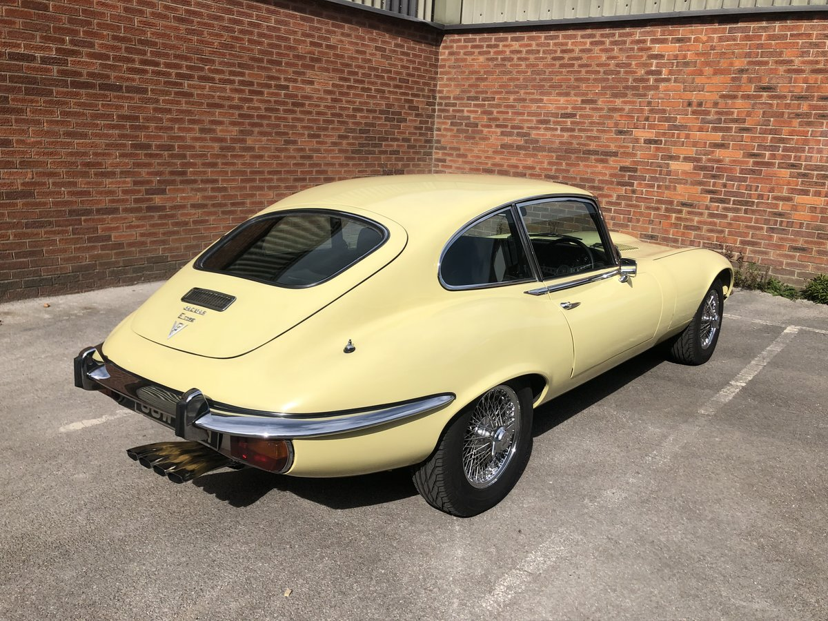 Jaguar E-Type Series 3 V12 Coupe Primrose  For Sale (picture 2 of 6)