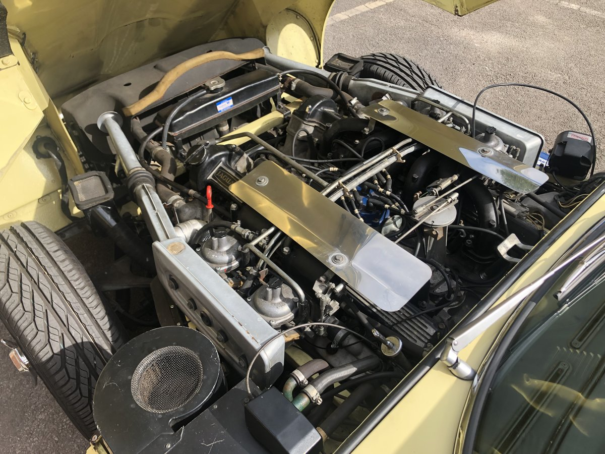 Jaguar E-Type Series 3 V12 Coupe Primrose  For Sale (picture 4 of 6)