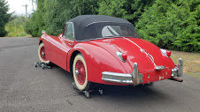 1957 Jaguar XK140 DHC LHD clean Correct Red Driver $99k For Sale (picture 2 of 4)