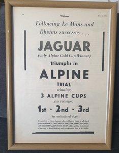 1953 Jaguar XK120 Advert Original