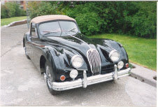 1954 Jaguar 1954 XK 140 DHC Correct Green Driver LHD $69k  For Sale (picture 2 of 6)