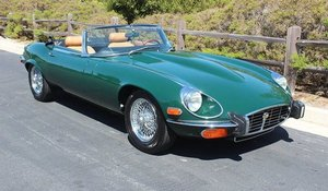 1973 Jaguar E-Type Roadster LHD Manual 38k miles Green $79k For Sale