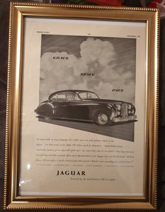 1951 Original Jaguar MK7 Framed Advert