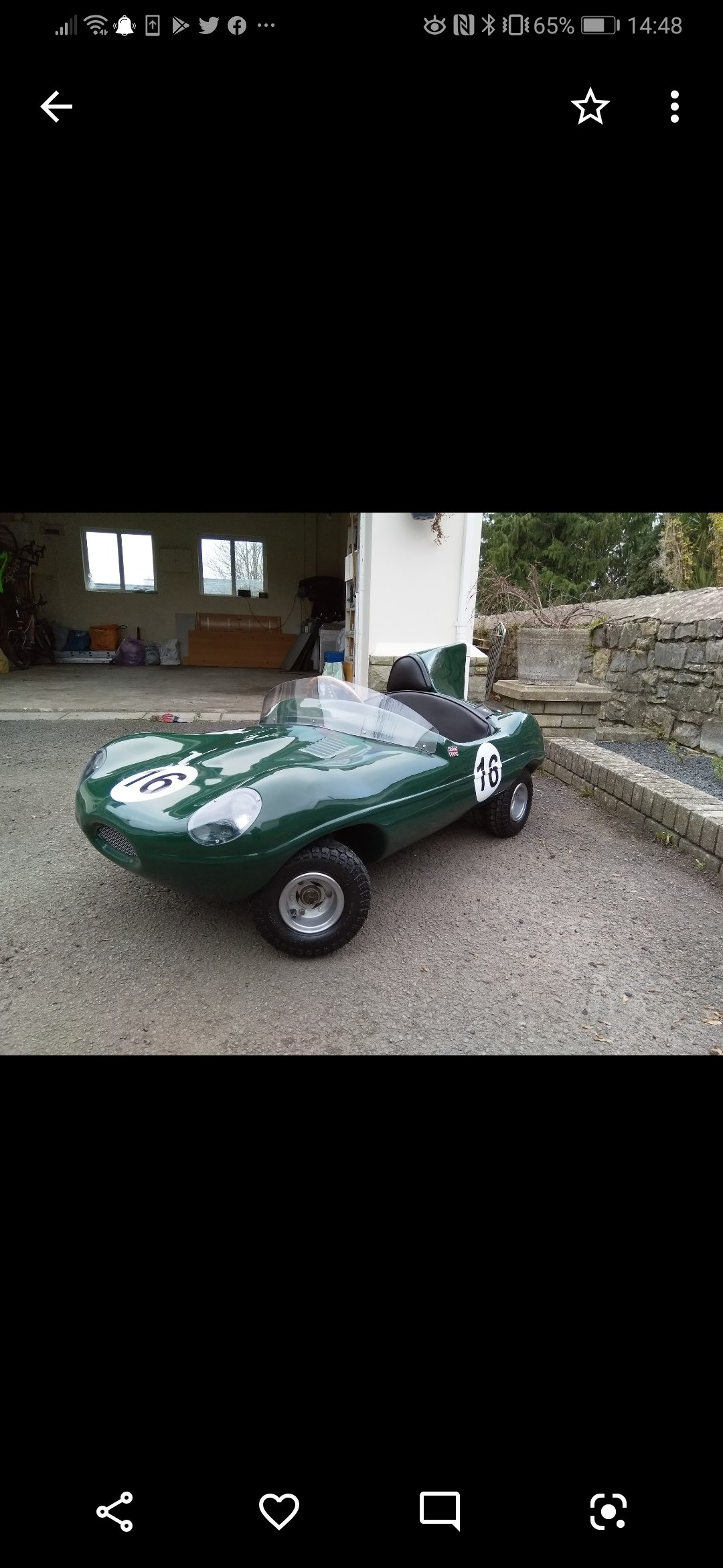 Jaguar D Type toy car - Perfect Christmas gift! For Sale (picture 6 of 6)