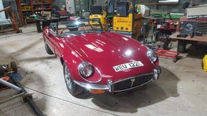 **DECEMBER AUCTION** 1972 Jaguar E Type Series III Roadster For Sale by Auction