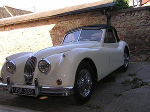 1954  xk 140 dhc lhd Beautiful old english white For Sale