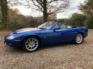 1999 Jaguar XK8 Convertible, Blue with cream leather