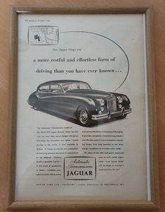 1956 Jaguar MK7 framed advert Original