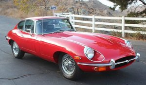 1968 Jaguar E-Type Coupe 4.2 Manual Red(~)Black LHD $75k For Sale