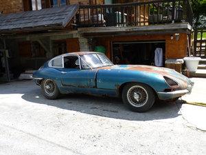 Jaguar e type 3.8 l FHC serie 1 to restore
