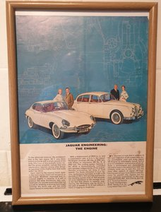 Jaguar Framed Advert Original