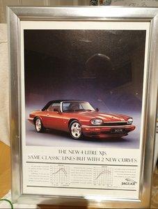 Original Jaguar XJS Framed Advert