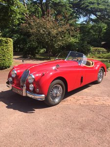 1956 Red Jaguar XK140 MC LHD