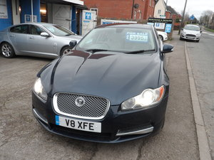 2008 V/8 XF JAGUAR SALOON IN LUE SMART CAR 100K CAT S LAST YEAR  For Sale