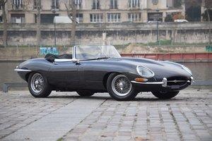 """1962 Jaguar Type E 3.8 L roadster """"plancher plat"""" For Sale by Auction"""