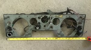 JAGUAR1940 1950,S INSTRUMENT PANEL WITH SWITCHES