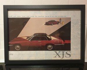 1987 Original Jaguar XJS Framed Advert
