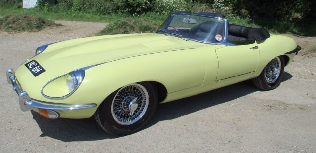 Jaguar E type 4.2 S2 Convertible 1970 Gen  RHD  48,900 miles For Sale (picture 1 of 20)