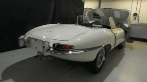 1961 Jaguar E Type Roadster Outside Bonnet Lock