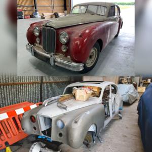 1952 TWO Jaguar Mk VII's (7's) Restoration Opportunity  For Sale