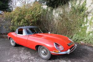 1961, flat floor Jaguar e type roadster SOLD