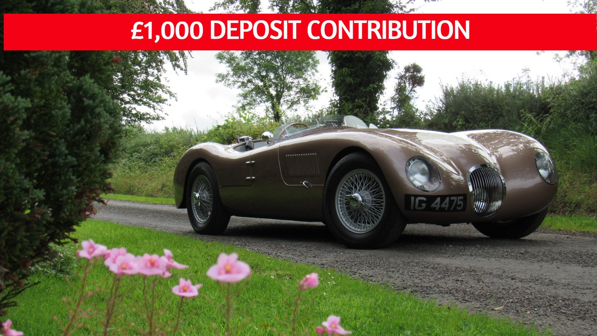 2017 Jaguar C-Type recreation ** £1,000 DEPOSIT CONTRIBUTION ** For Sale (picture 1 of 6)