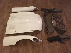 1961 Jaguar E-type bonnets welded louvres flat floor For Sale