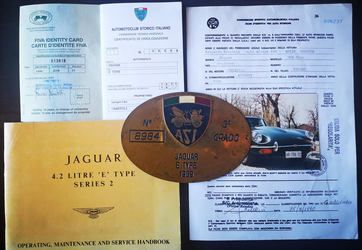 1969 JAGUAR E TYPE 4.200  ROADSTER  Euro 84.800 For Sale (picture 6 of 6)
