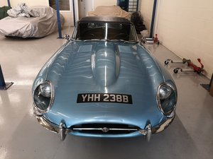 Picture of 1964 1963 e type roadster full matching numbers. SOLD