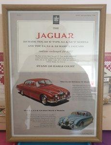 1964 Original Jaguar Framed Advert