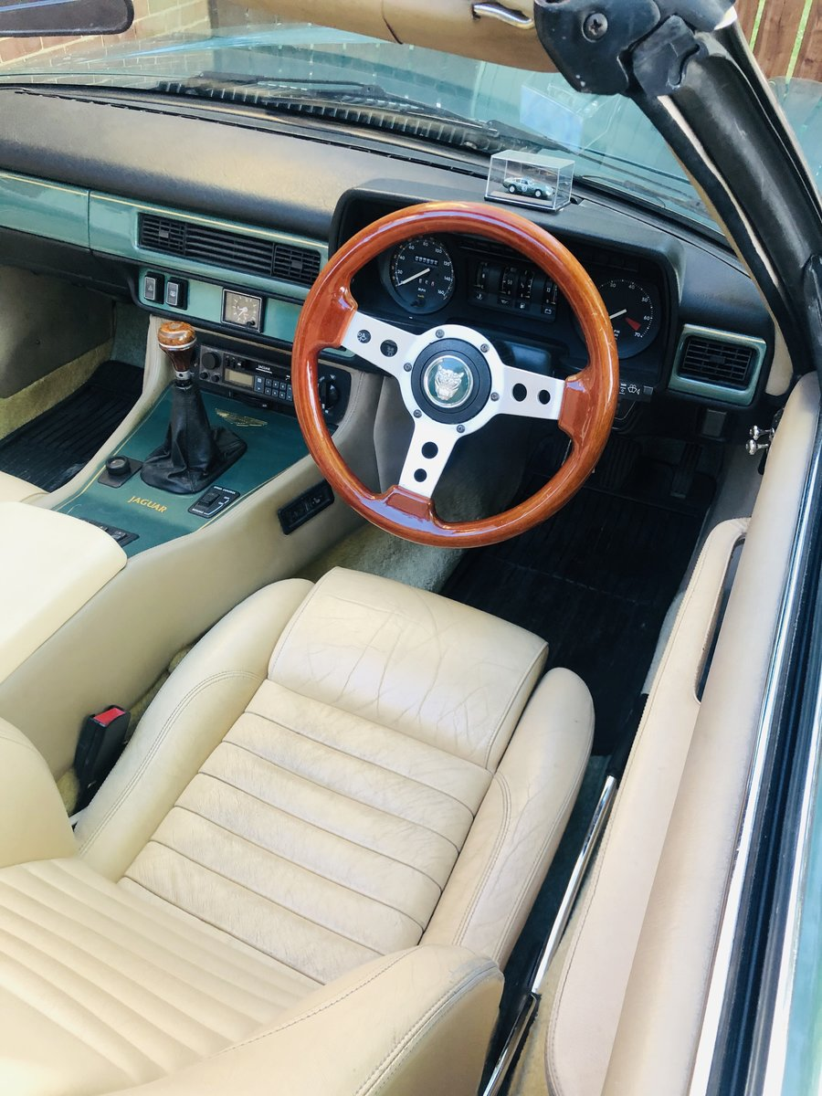 1988 JAGUAR XJS XJ-S V12 CONVERTIBLE - MANUAL GEARBOX  For Sale (picture 4 of 6)