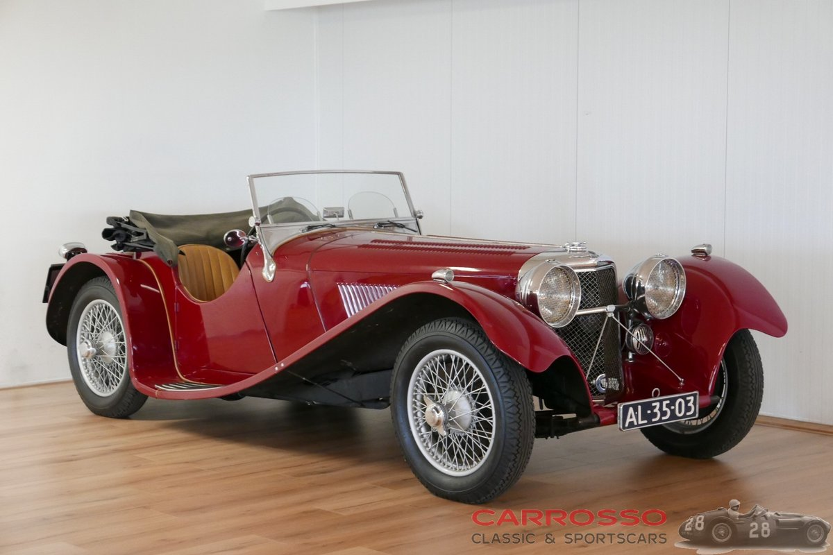 Jaguar SS100 3.5 1936 a very beautiful car For Sale (picture 1 of 6)