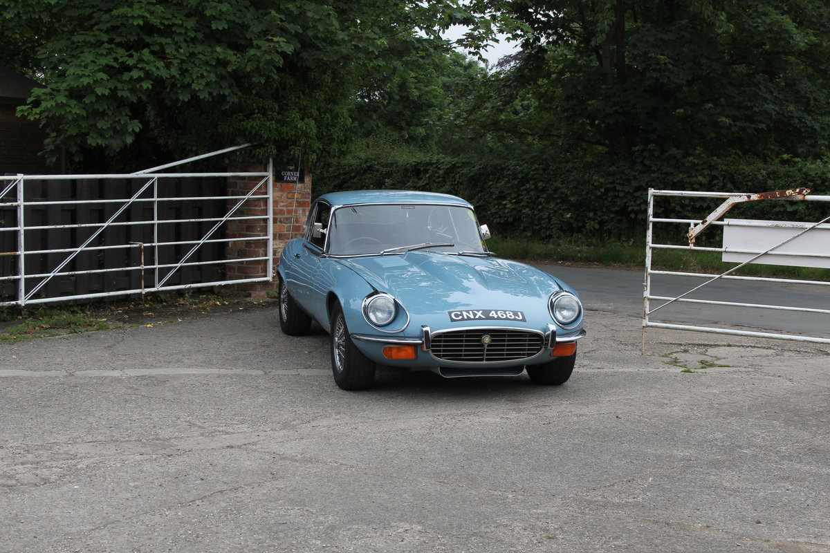 1971 Jaguar E-Type V12 Manual UK car, 51k miles, history from new For Sale (picture 1 of 16)