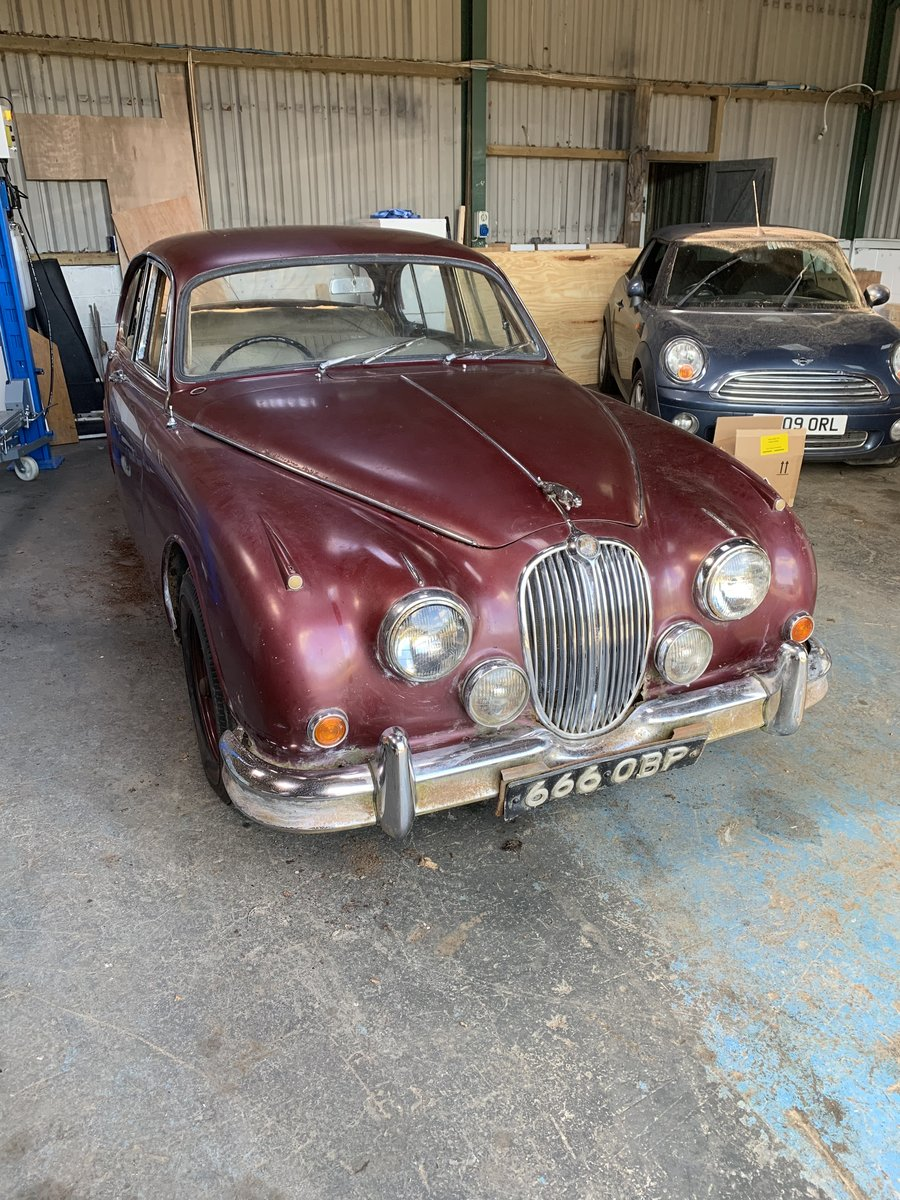 1964 MK2 Jaguar 2.4 Certified mileage of 19698 For Sale (picture 1 of 5)