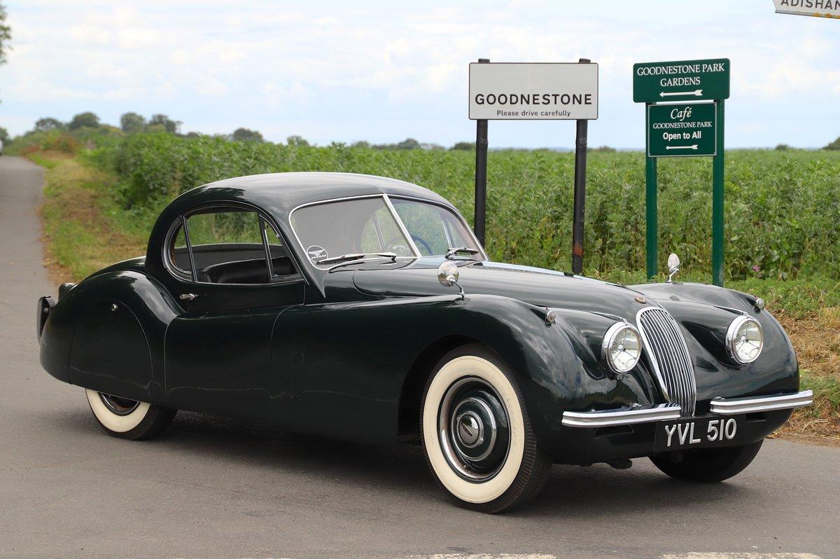 Jaguar XK120 Fixed-Head Coupé. LHD, 1952.  For Sale (picture 1 of 6)