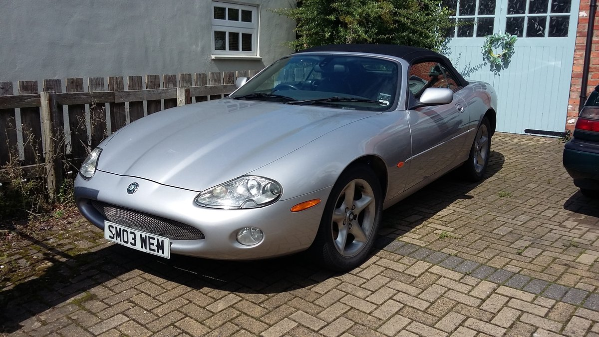 2003 Jaguar XK8 Convertible in silver For Sale (picture 1 of 6)