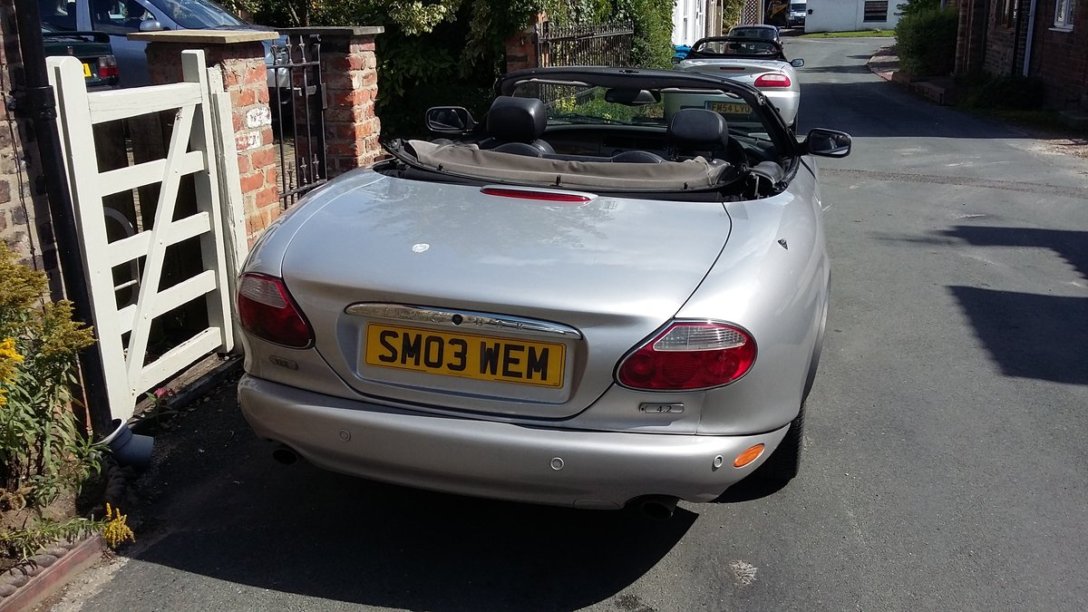 2003 Jaguar XK8 Convertible in silver For Sale (picture 5 of 6)