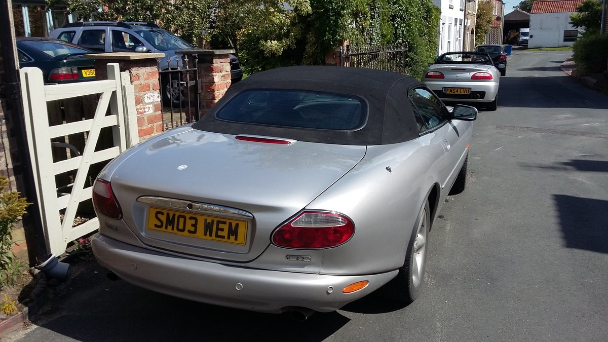 2003 Jaguar XK8 Convertible in silver For Sale (picture 6 of 6)