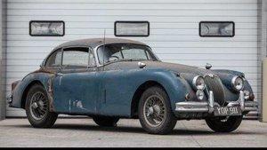 1959 Jaguar XK150 'S' 3.4-Litre Coupe Project. One of 88 XK1 For Sale