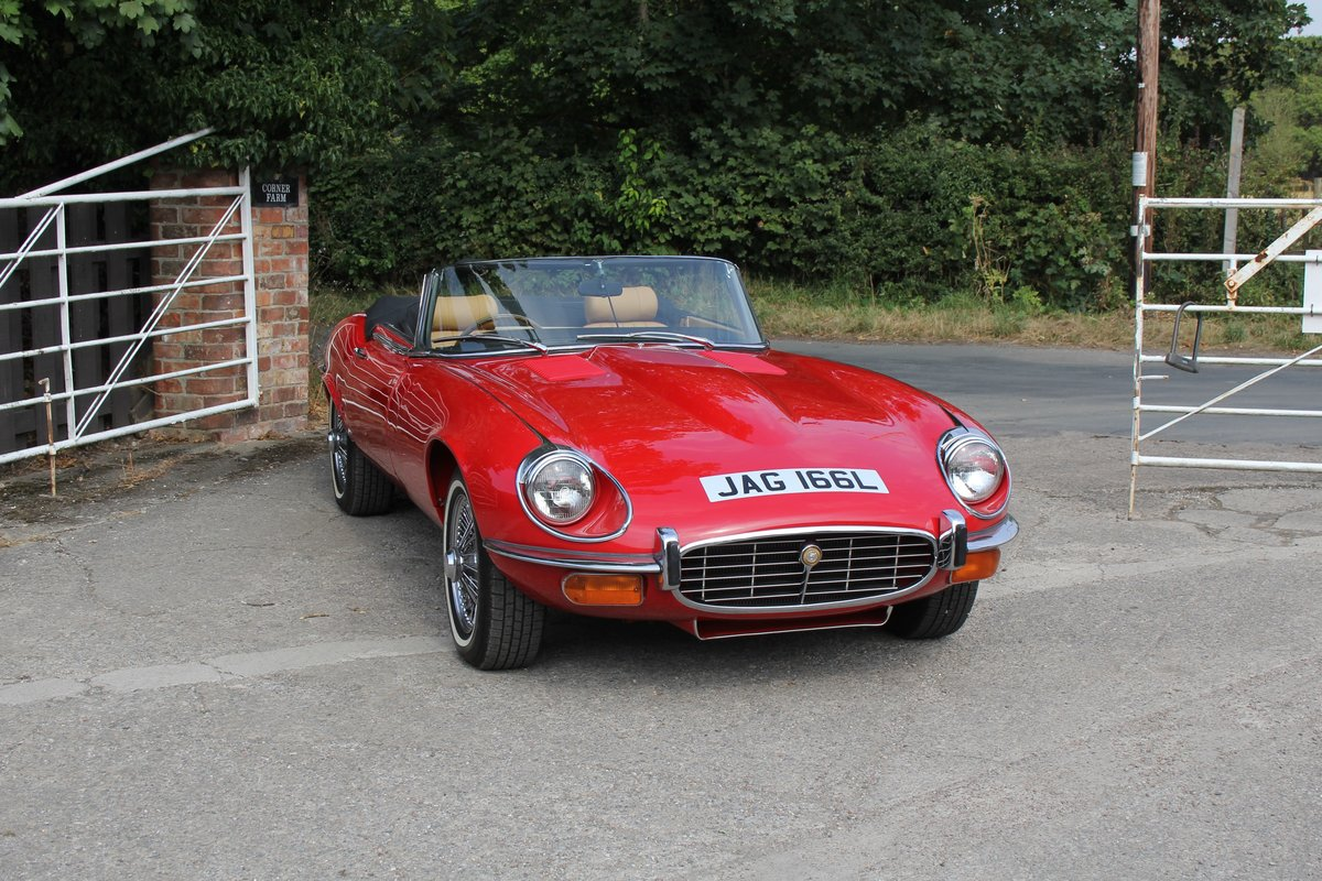 1973 Jaguar E-Type Series III V12 Roadster Matching No's UK car For Sale (picture 1 of 20)
