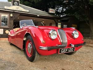 1950 JAGUAR XK120 ROADSTER - WITH PERIOD COMPETITION HISTORY SOLD