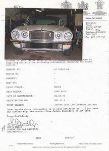 1973 XJC  pre production LHD M.O.D