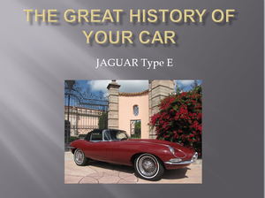 Picture of 1960 For e type and any brand