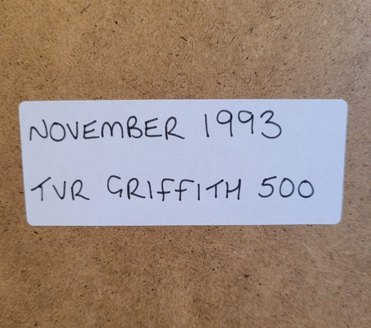 1963 Original 1993 TVR Griffith Framed Advert For Sale (picture 2 of 3)